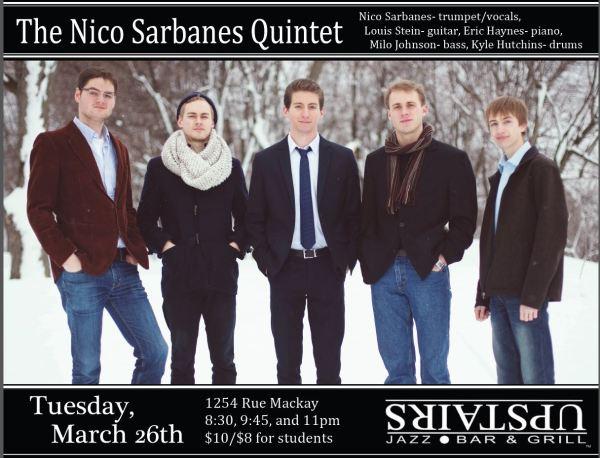 Eric Haynes in Nico Sarbanes quintet