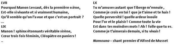Namouna Poème de Musset