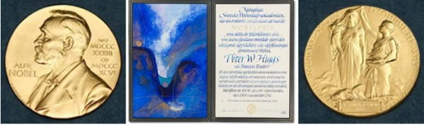 Nobel Diploma for Higgs by Susanne Jardeback