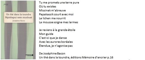 Poème de Josephine Bacon