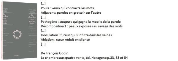 Poème de Francois Godin