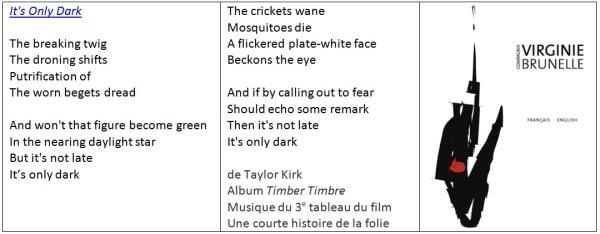 TimberTimbre lyrics et Cie VirginieBrunelle