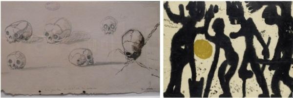 Cranes de Victor Hugoet Potentats d'imfirmités de Louis Soutter