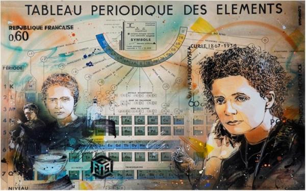 Marie Curie par C215
